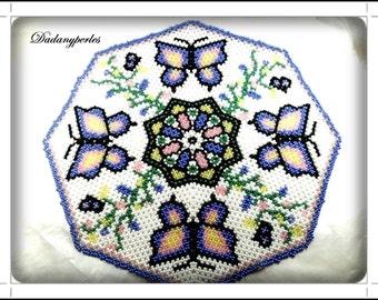 pattern bead weaving doily vol d'un papillon