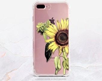 iPhone 7 Sunflower Clear Rubber Case iPhone 7 Plus Clear Case iPhone 6 Clear Case iPhone 6S Case iPhone SE Case Samsung S7 Edge Case U150