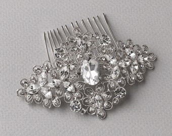 Vintage Bridal Comb, Rhinestone Bridal Hair Comb, Rhinestone Hair Comb, Wedding Hair Comb, Hair Combs for Wedding, Bridal Headpiece ~TC-2241