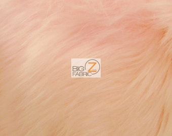 """Solid Shaggy Faux Fur Fabric - LIGHT PINK - Sold By The Yard 60"""" Width Costumes Accessories Clothing"""