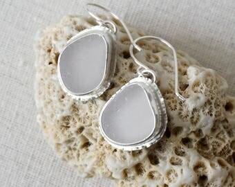 Light Lavender Sea Glass Earrings - Natural Sea Glass, Genuine Sea Glass - Sea Glass Jewelry