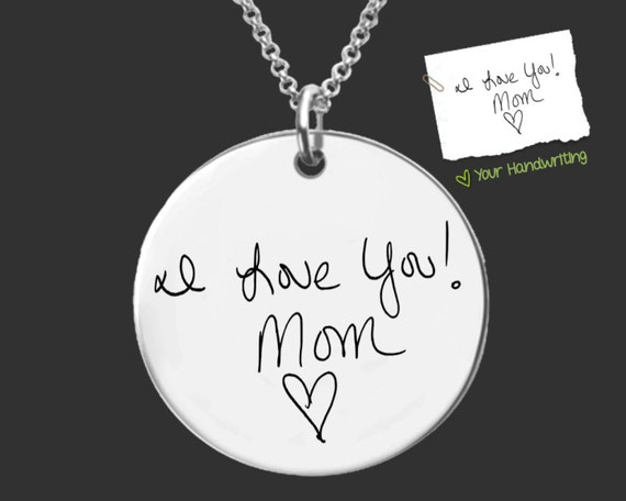 Daughter Gift | Mothers Day Gift | Sympathy Gift | Handwriting Jewelry | Mother Gift | Mom Gift | Personalized Jewelry | Korena Loves