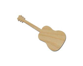 Acoustic Guitar Shape Variety of Sizes Unfinished Wood Craft Cutouts Artistic Craft Supply