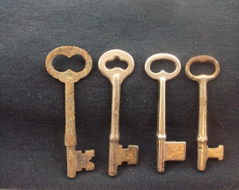 Vintage Keys - Iron Steel and Brass