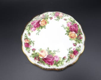 Gorgeous Vintage Royal Albert Old Country Roses Teapot Caddy Trivet Stand Tea Tile