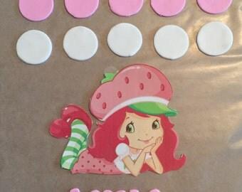 Ready -to- Ship Strawberry Shortcake Cake Decorating Kit