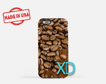 Ground Coffee iPhone Case, Bean iPhone Case, Coffee iPhone 8 Case, iPhone 6s Case, iPhone 7 Case, Phone Case, iPhone X Case, SE Case New