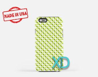 Green Petal Phone Case, Green Petal iPhone Case, Flower iPhone 7 Case, White, Flower iPhone 8 Case, Green Petal Tough Case, Clear Case
