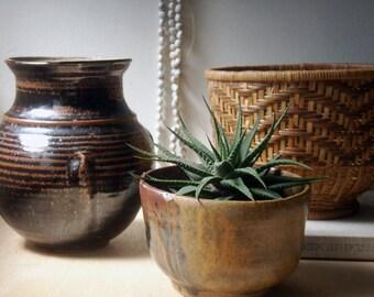 pottery vase, studio pottery vase, vintage vase, annapolis pottery, earthy, natural decor, rustic, studio pottery, flower vase, bohemian
