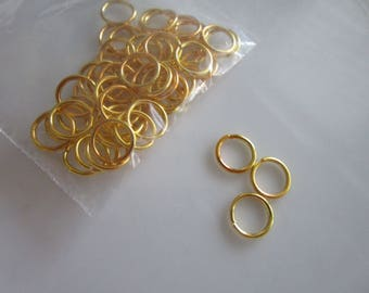 50 - 8mm Gold Plated Open Jump Rings, open jump rings, gold plated jump rings, open gold jump rings, gold findings, findings for jewelry