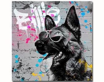 Custom Pet Portrait - Splatter Art Graffiti Art - Custom Pet Illustration Dog - street style pet portrait - grunge graffiti pet portrait