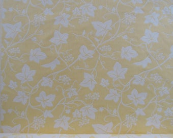 Yellow and Cream Matelasse Floral Fabric