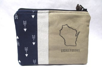 Locally Grown Wisconsin Small Hand Bag / Clutch Bag