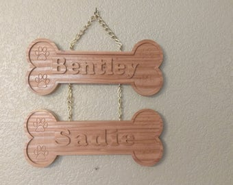 Combo Personalized Dog Bone