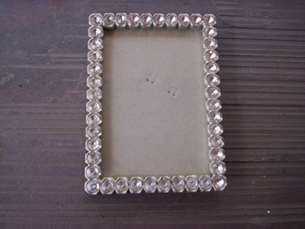 keepsake metal and rhinestone frame small picture frame metal. Black Bedroom Furniture Sets. Home Design Ideas