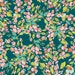 Knit Bougainvillea Evergreen by Bari J. by Art Gallery Fabric Sage Collection Floral Knit Fabric Dark Green Fabric Green and Pink Jersey