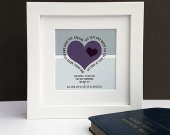 First Holy Communion Personalised Verse Print-First Holy Communion-Holy Communion Gift-1st Holy Communion-Religious Gift-Memory Gift