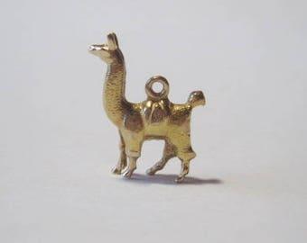 Cute 14k Llama Charm