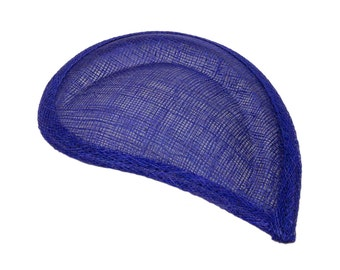 Blue Sinamay Paisley Beveled Teardrop Fascinator Hat Base - Available in 8 Colors