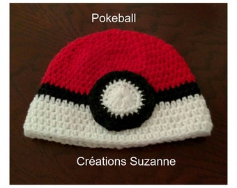 A beautiful Pokeball hat for boys and girls
