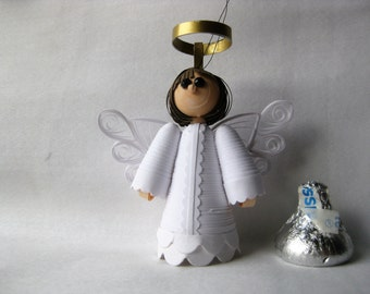 Paper Quilling; Angel Christmas Ornament