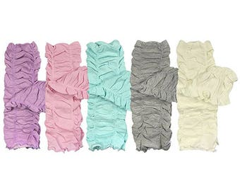 Set of 5 Infant-Children's Leg Warmers in Different Colors