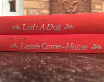 Set of 2 Collie books - Lassie Come Home & Lad: A Dog