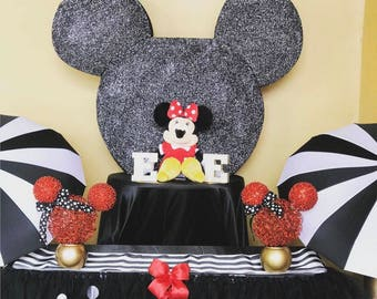 mickey head- minnie head- theme party- mickey clubhouse- first birthday-disney- mickey mouse - mouse centerpiece-minnie centerpiece