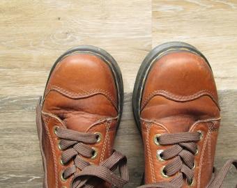 Vintage Dr Martens Cap Toe Shoe, Doc Martens Shoe Size 7 US