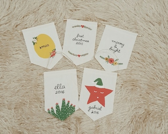 Personalized Christmas banner / Christmas ornaments