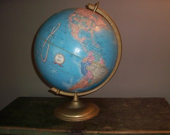 Vintage Cram's World Globe and Stand