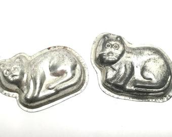 Vintage Cat Candy Molds, Set of 2, 1960