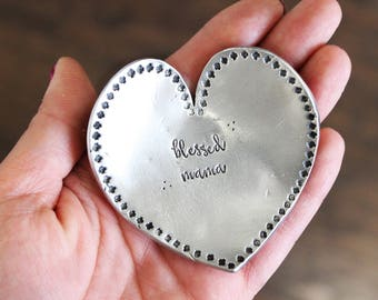 Trinket Dish | Personalized Jewelry | Ring plate | Christmas Gifts | Mom Gift | Mother's Day | Hand Stamped keepsakes | Mom girls | Grandma