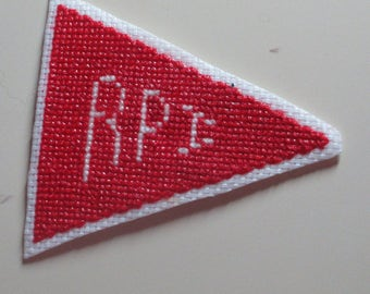 Cross Stitch Chart for College Pennant #3 RPI