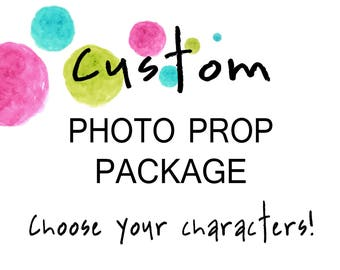 Custom Photo Booth Prop Package (Choose the characters for your own Photo Booth Props) - Digital Files