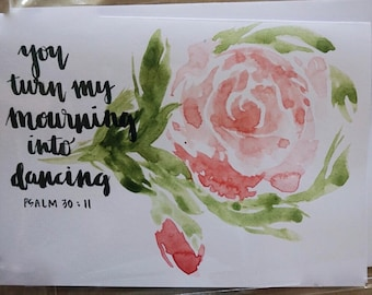 Scripture Watercolor Stationery Set