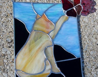 Cat and Butterfly Layered Panel