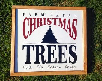 Christmas Tree  wall hanging  - Wall Decor - Handpainted Sign - Christmas decor