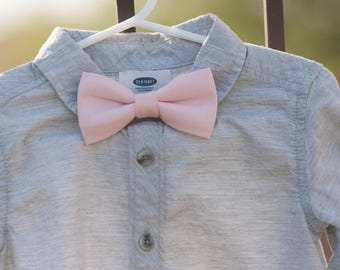 Easter bow tie..spring bow tie..Light Pink Bow Tie--Newborn-Toddler-Kids-Youth/Clip On Bow Tie-Pink Bow tie