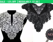 Double Sided Necklace Neckline Collar in Black / White