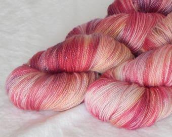 Shall We Dance on Mad Sock Sparkle 75/20/5 SW merino nylon and stellina fingering yarn