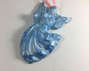 Christmas Angel Ornament Blue Angel Musical Angel
