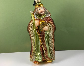 Vintage Victorian WiseMan Mercury Glass Ornament Made in Poland