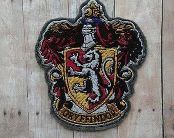 Gryffindor Crest Iron Patch ~ No Sew Hogwarts Embroidered Applique ~ Harry Potter