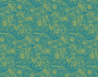 Baby Bedding Crib Bedding - Teal, Gold, Floral, Peony - Baby Blanket, Crib Sheet, Crib Skirt, Changing Pad Cover, Boppy Cover