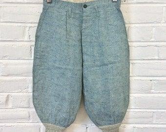 Vintage 1930s 1940s Boys Sanforized Flecked Cotton Plus Fours Knickers Short Pants. 7