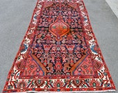 Persian Hamadan Village Rug -- 8 ft. 5 in. by 4 ft.