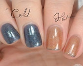 Thermal Nail Polish, Tan to Blue/Black Thermal Polish - Mora Arena - Thermal Collection