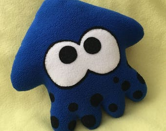 Splatoon squid plush blue