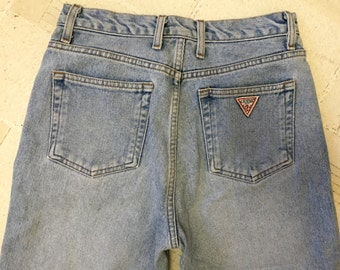 Vintage 1980's GUESS Marciano denim jeans tapered size 28